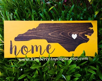 Custom state sign, Home state sign, Home sign, Wood sign, Wood state sign, City and state sign, Custom state, Wooden sign, State home sign