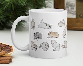 cats mug, coworker gift, gift for her or him, gift for cat lover, cat gifts, Christmas gifts, cat lady gifts, mug with funny cats on it
