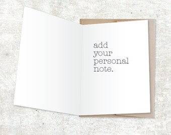Add your personal note to any card  - Personal note service