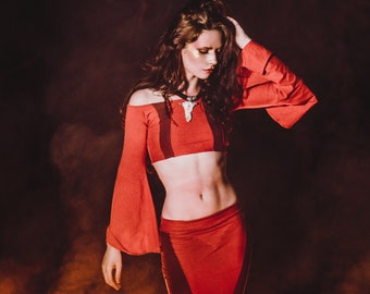 568db0a053 Red gypsy costume | Etsy