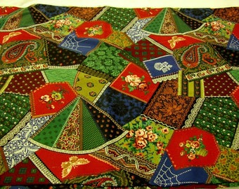 Vintage Cotton Fabric Crazy quilt Pattern  4 yards available