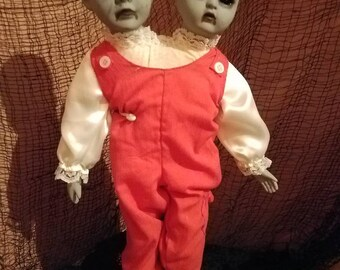 Siamese twins Creepy doll Mitzi and Molly