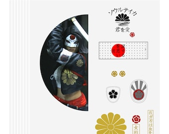 Katana Suicide Squad Cosplay Pattern Template Pack (PDF download)