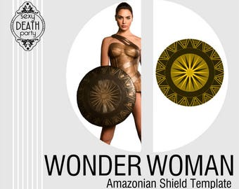 Wonder Woman Amazonian Shield Template PDF Download
