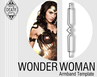 Wonder Woman Armband Template PDF Download