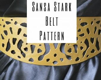 Sansa Stark Belt Pattern (PDF download) US Letter & A4 Sizes