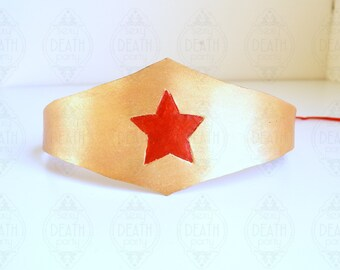 Leather Wonder Woman Headband Duopoint Style
