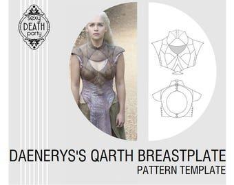 Daenerys Targaryen Qarth Breastplate Armor Pattern (PDF download)