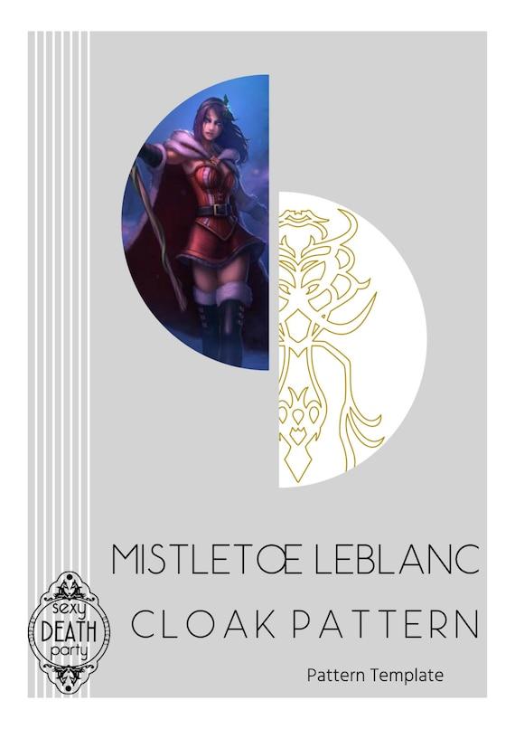 mistletoe leblanc cloak pattern template etsy