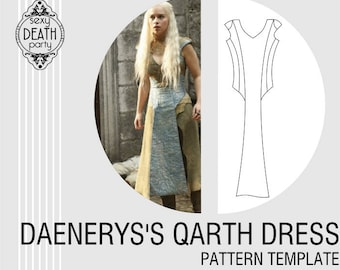 Daenerys Targaryen Qarth Dress Pattern (PDF download)