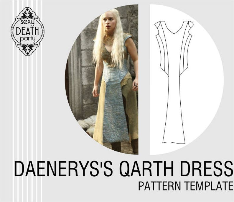Daenerys Targaryen Qarth Dress Pattern PDF download image 0