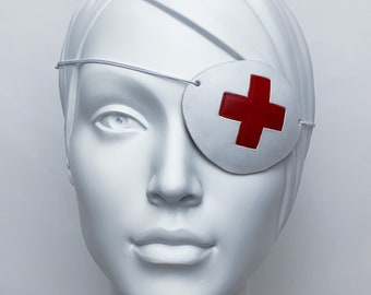 White Medical Eyepatch with Red Cross, Kill Bill, Elle Driver
