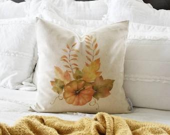 Fall Pillow Cover, farmhouse fall, Fall Decor, Fall pillow, pumpkin pillow
