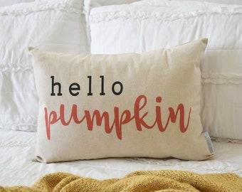 Hello Pumpkin Pillow Etsy