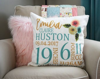 custom baby pillow etsy