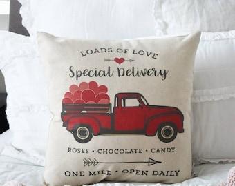 Vintage Truck Pillow Etsy
