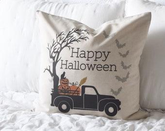 Halloween Pillow Cover, Happy Halloween Pillow Cover, Halloween Decor, Pumpkin Pillow, Fall pillow
