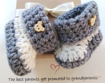 Pregnancy reveal to family Baby announcement Pregnancy reveal to grandparents Baby Booties box Gender reveal New Baby shower Valentines gift