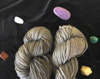 Naturally Dyed: Blackberry Leaves Worsted (with Iron Modifier)