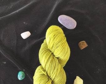 Naturally Dyed: Goldenrod Worsted (with Iron Modifier)