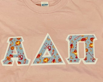 eda893854 Sailor Moon Wands Inspired Greek Lettered Shirt Fraternity/Sorority Made to  order