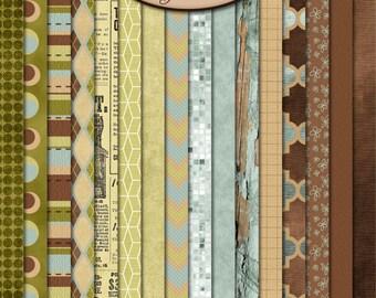 Digital Scrapbooking: Paper, Sandalwood