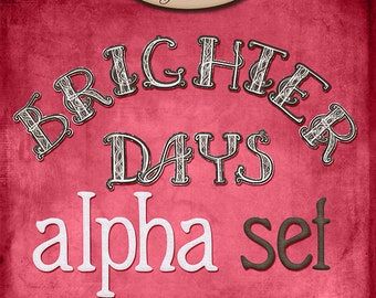 Digital Scrapbooking, Alphabet: Brighter Days