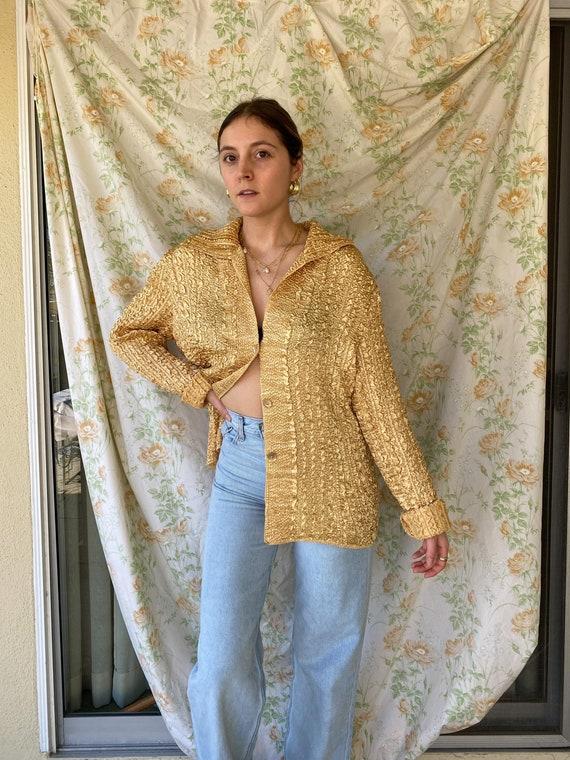 Gold Vintage Shirt/Jacket - image 3