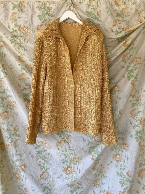 Gold Vintage Shirt/Jacket - image 1