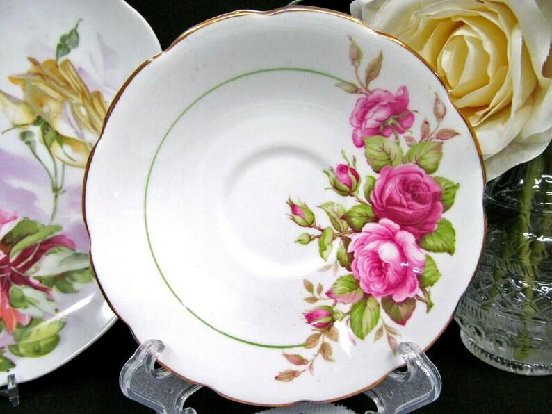 ROYAL STUART tea cup and saucer pink rose bouquet teacup England cup saucer