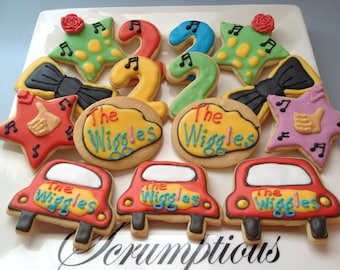 """20 """"The Wiggles"""",  Iced Cookies."""