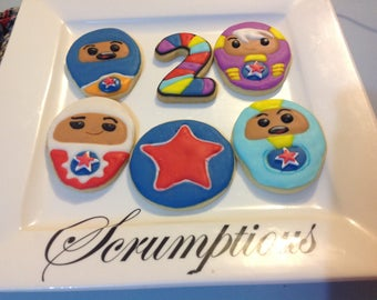 16 Go Jetters Iced Cookies Platter.