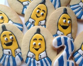16 Banana in Pyjamas  iced Cookies Platter.