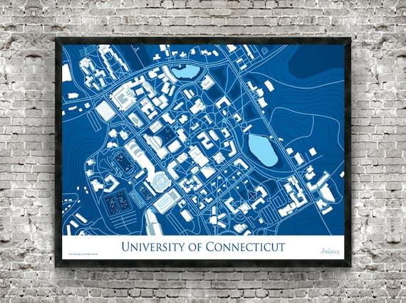 Uconn Graduation Gift University Of Connecticut Storrs Ct Etsy