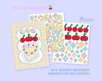 SVT Birthday Polco and Journal/Bujo Deco, Scoups Day Sticker Sheets