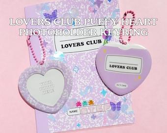 LOVERS CLUB Puffy Heart Photoholder Keyring