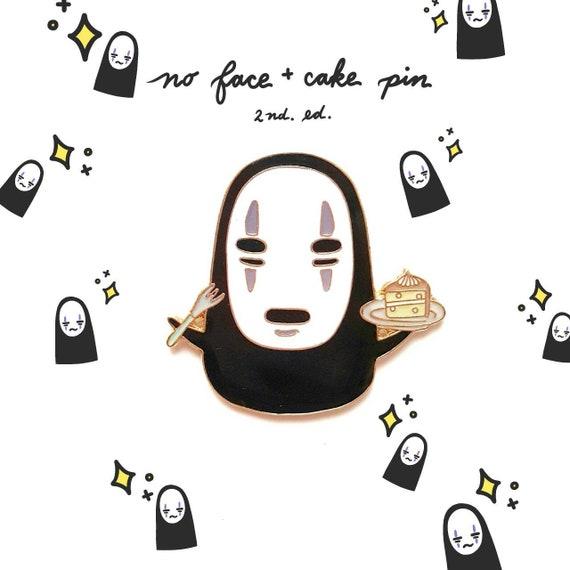 No Face Kaonashi And Cake From Studio Ghibli S Spirited Etsy