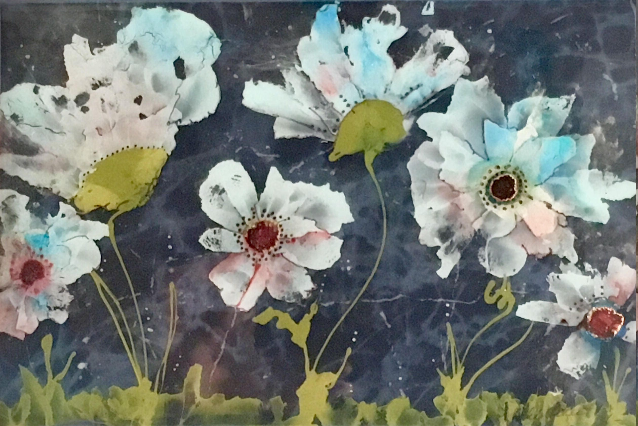 Wild Flowers Painting Flowers Floral Painting White Flowers Etsy