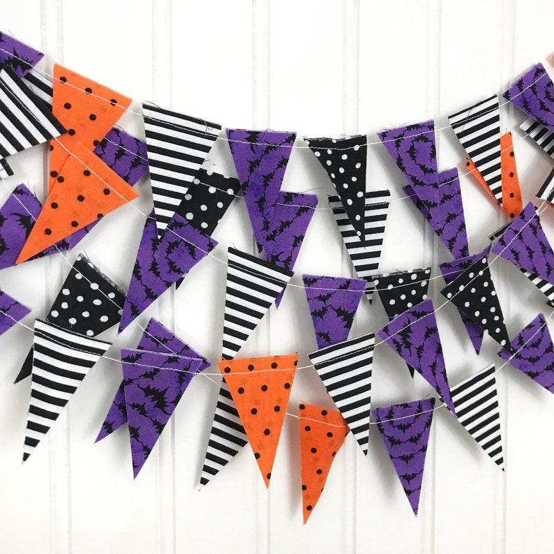 Halloween Scrap Bunting Mini Banner Scrap Banner Fall image 0