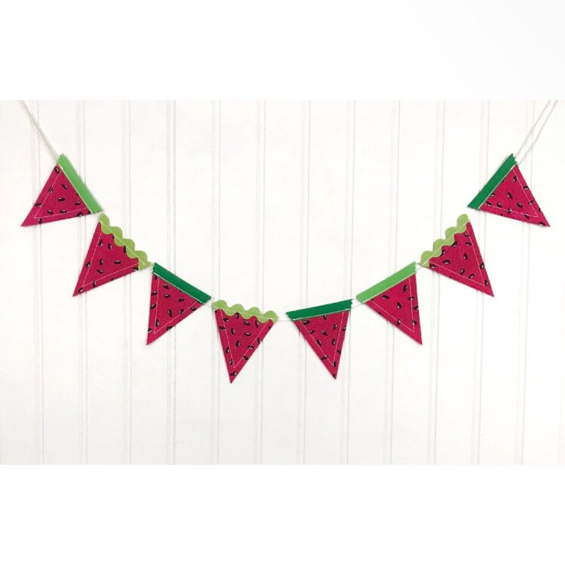 Mini Watermelon Bunting Banner Bunting Banner Mini Banner image 0