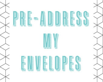 Pre-Addressed Envelopes - 10/Pack