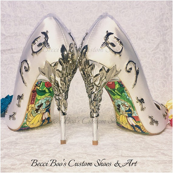 Custom Shoes Beauty and the Beast Soles