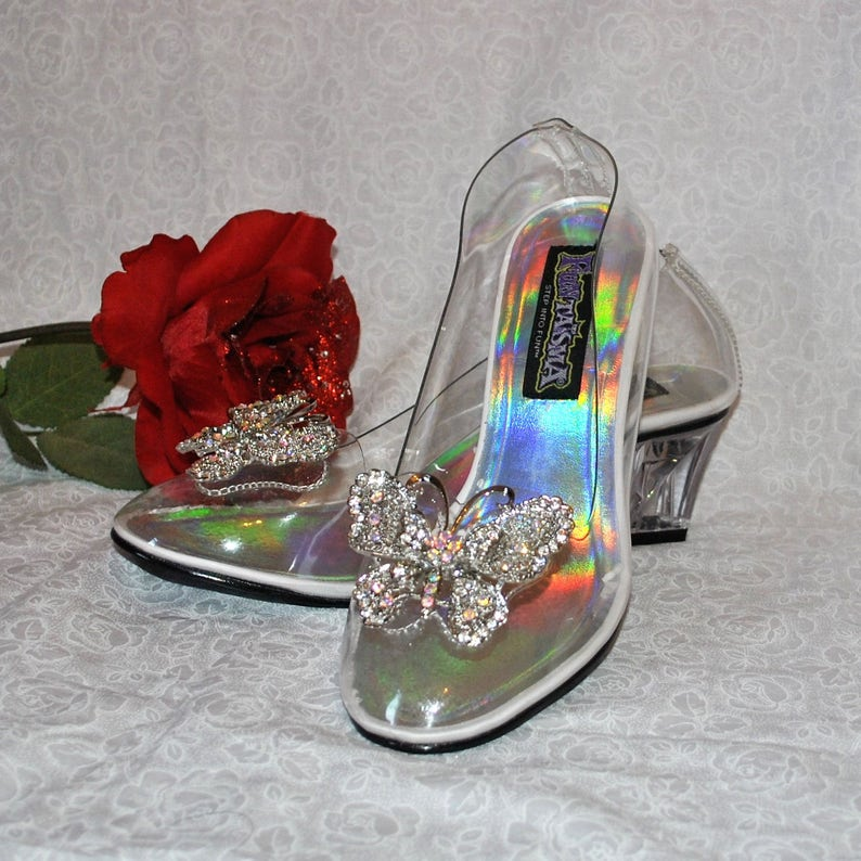 32659501d Cinderella Glass Slippers Shoes Inspired by the Live Action | Etsy