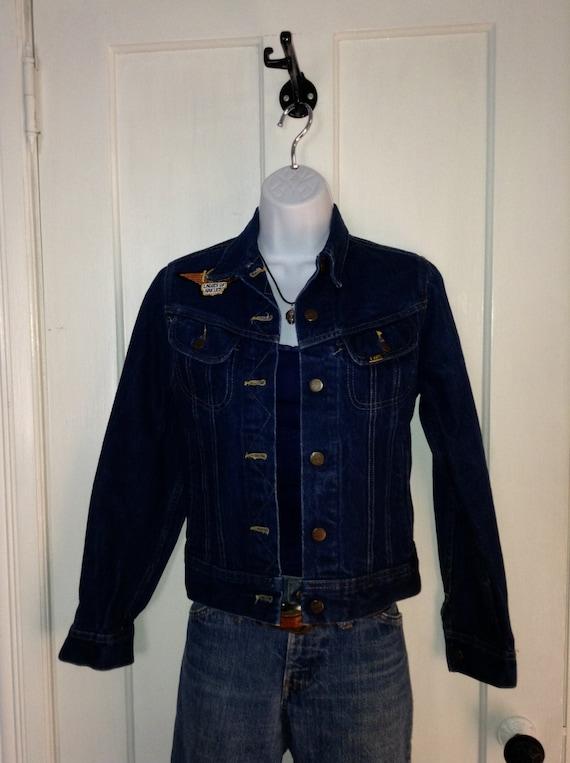 Vintage 1970's Ms. Lee Denim Jean Jacket Harley Da