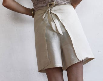 Trousers CAÑA: high-top trousers and linen