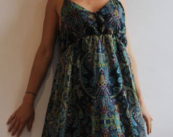 Butterfly dress: Indian-motif, with suspenders and short