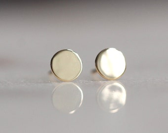 Solid 14K Gold Dot Studs