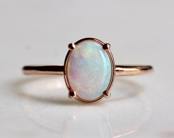 14K Gold Australian Opal Statement Ring