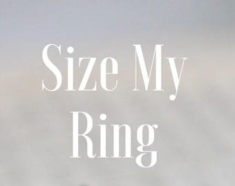 Ring Sizing, Size my Ring, Size Adjustment, Liesel Love Ring Sizing