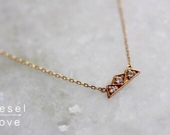 "14K Gold Diamond ""Mountain"" Necklace"